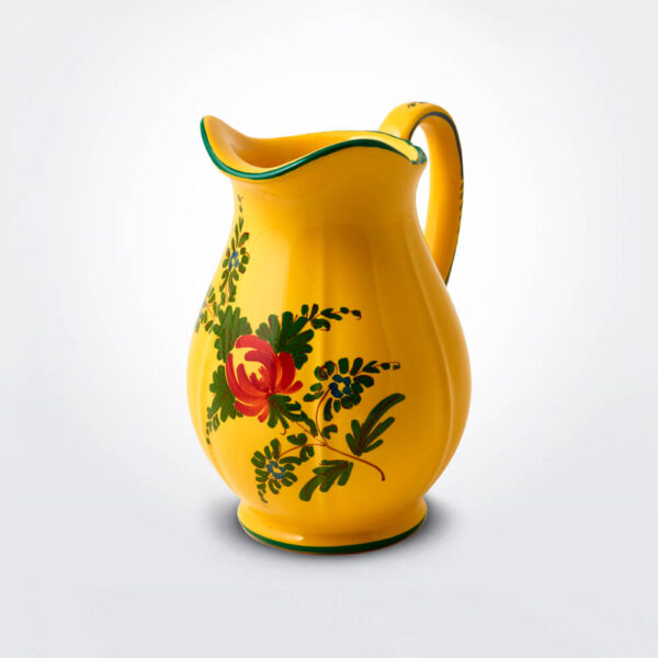 Oriente italiano giallo creamer grey background.