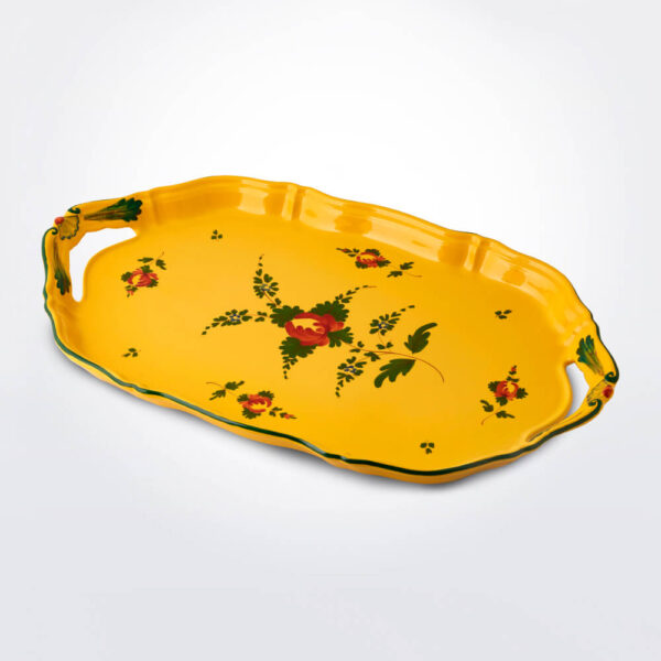 Oriente italiano giallo serving tray product picture.