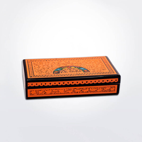 Olinala lacquer tea box grey background.