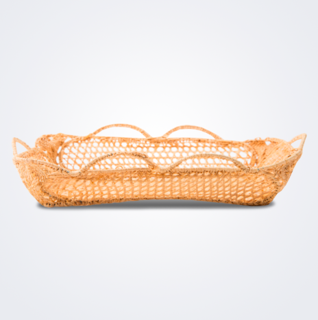Raffia Rectangular  Basket