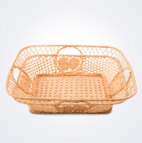 Raffia Square Basket