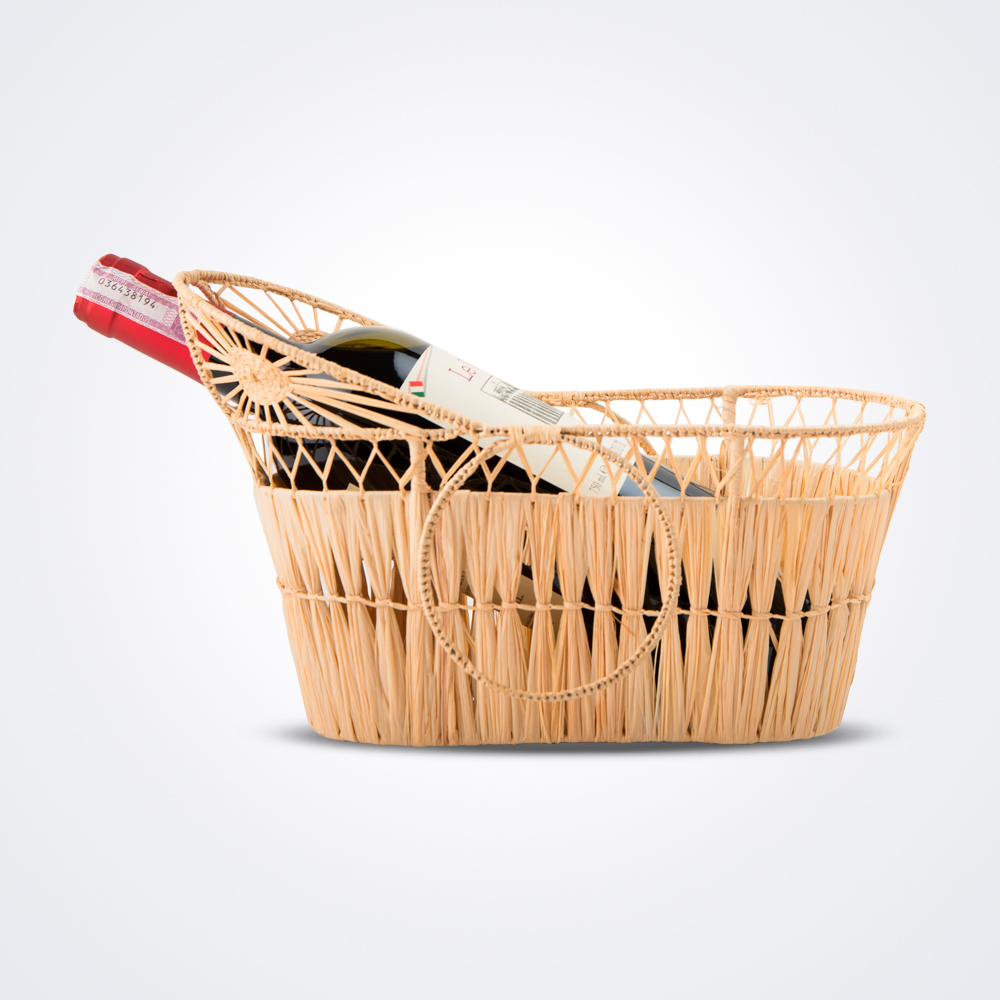 Raffia-wine-carrier-tray