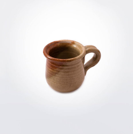 Stoneware Brown Coffee Cup Set