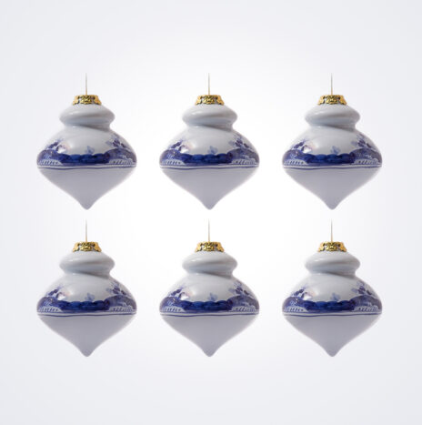 Blue Finial Christmas Bauble Set