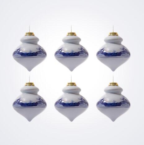 Blue Finial Christmas Bauble Set
