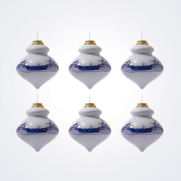 Blue Finial Christmas Bauble Set.