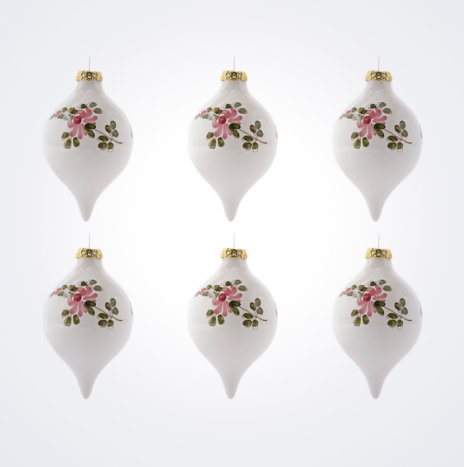 White Droplet Christmas Bauble Set