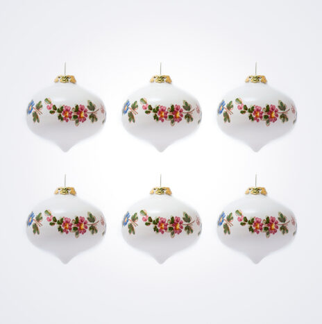 White Onion Christmas Bauble Set