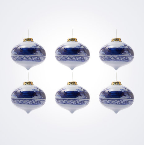 Blue Onion Christmas Bauble Set