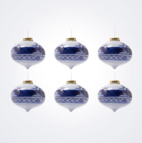 Blue Onion Christmas Bauble Set