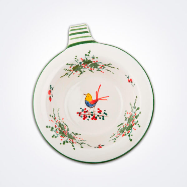Bird motif pasta bowl product picture.