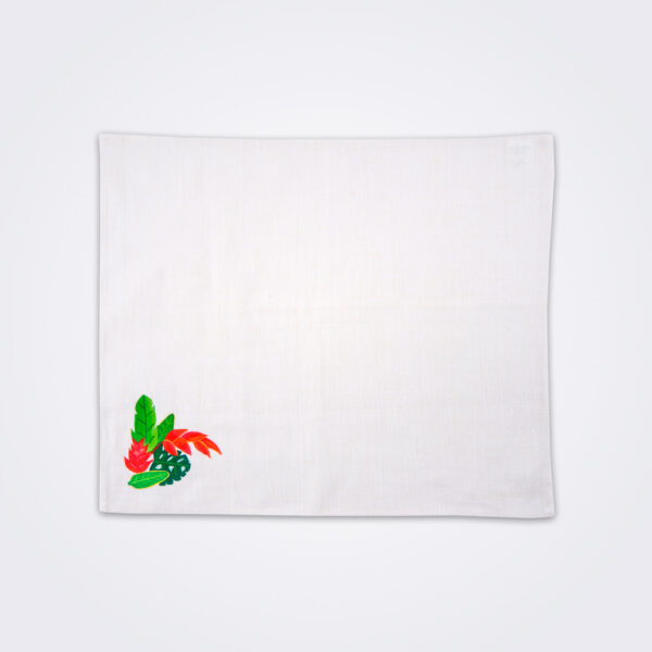 Bird of paradise tea towel product photo.
