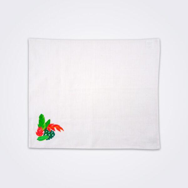 Bird of paradise tea towel product photo.