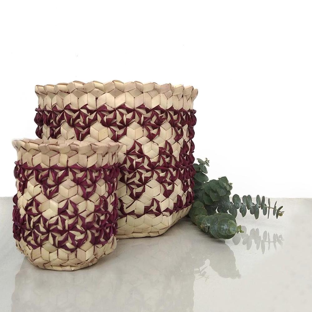 Burgundy sobe basket context
