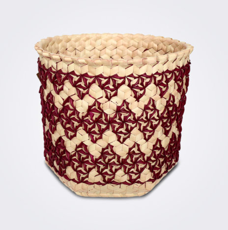Burgundy Sobe Basket (Medium)
