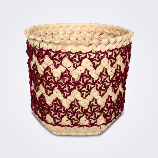 Burgundy sobe basket medium product picture.