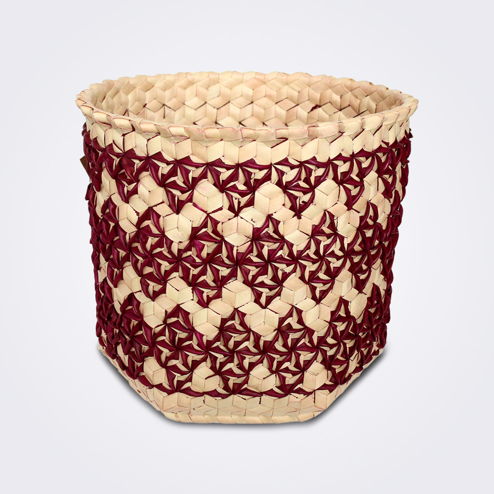 Burgundy-sobe-basket-medium