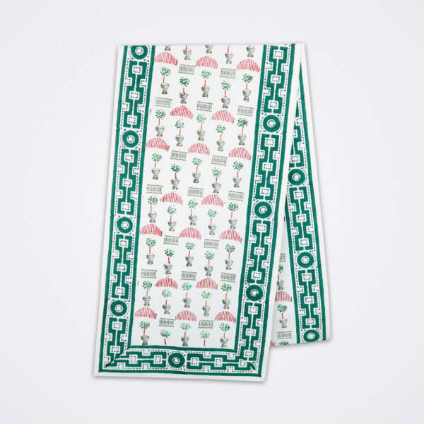Christmas topiary table runner product picture.