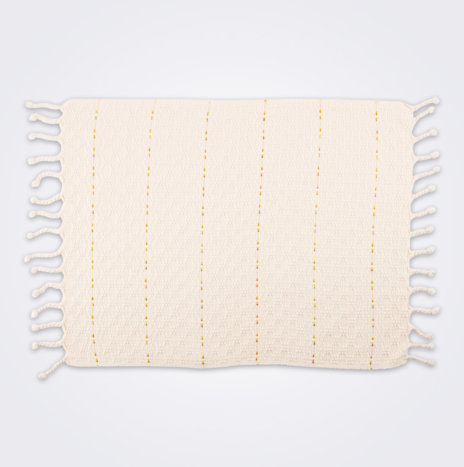 Cream Fringed Placemat Set