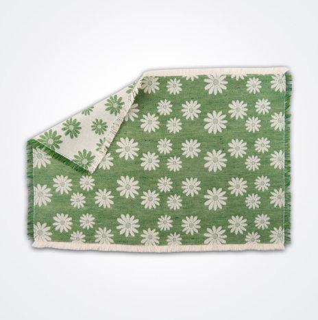 Daisy Flower Green Placemat