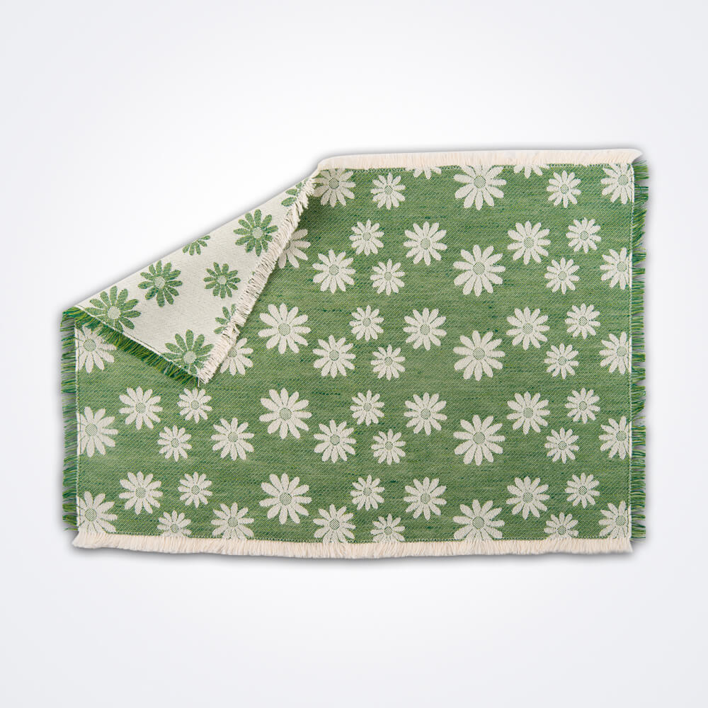 Daisy-flower-green-placemat