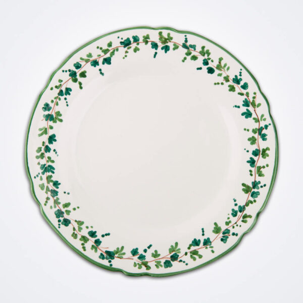 Green ivy charger plate product picture.
