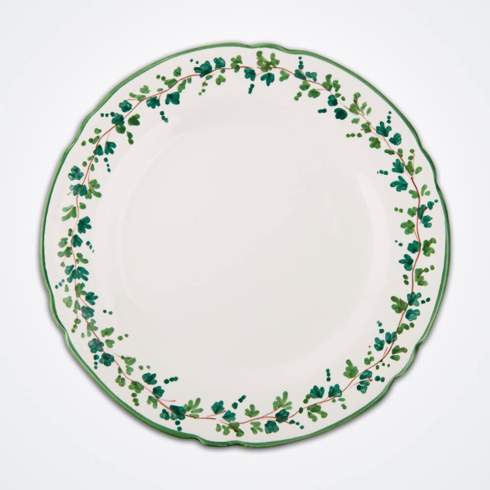 Green-ivy-charger-plate