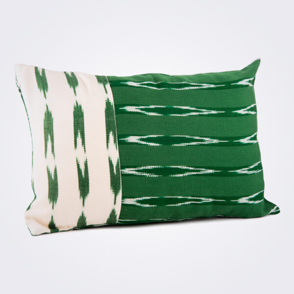 Green serpentine lumbar pillow cover product picture.