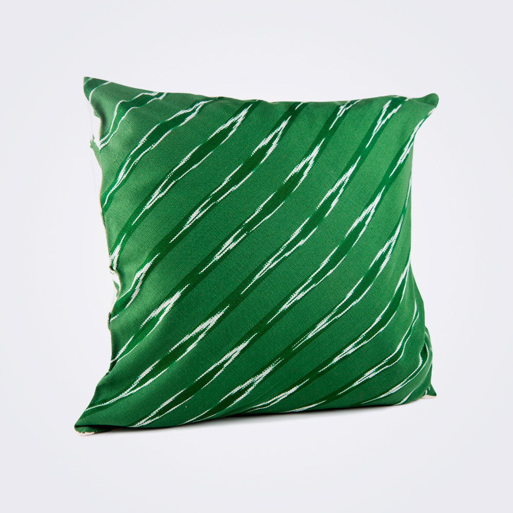 Green-serpentine-square-pillow-cover