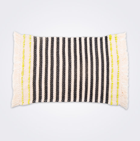 Handwoven Striped Cotton Placemat Set