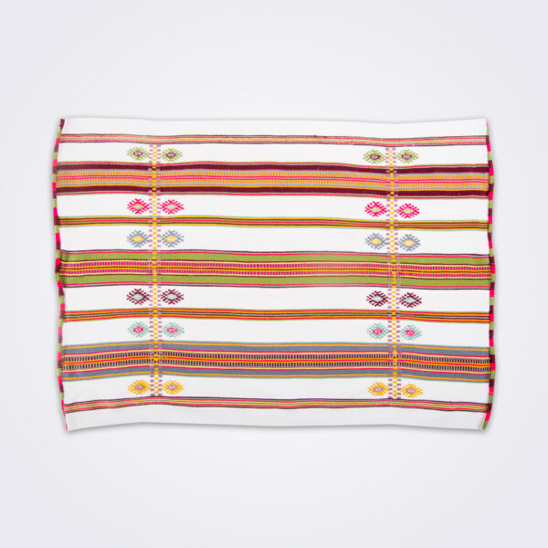 Mexican handwoven placemat set product picture.