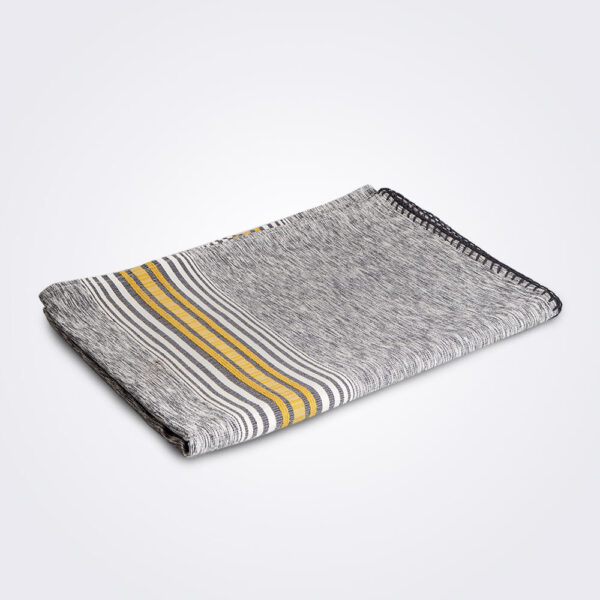 Jaspe gray Mexican coverlet product picture.