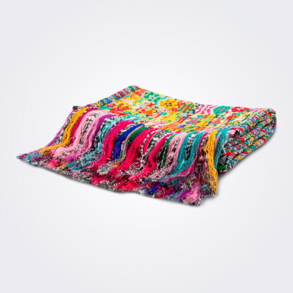 Multicolor guatemalan table runner product picture.