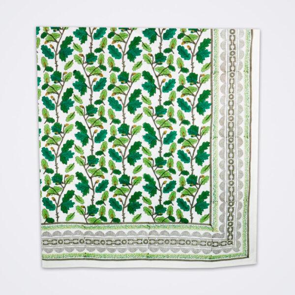 Oak leaf motif tablecloth product picture.