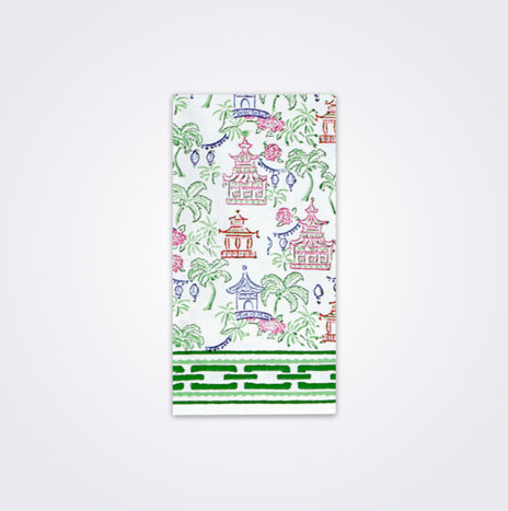 Palms & Pagodas Tea Towel