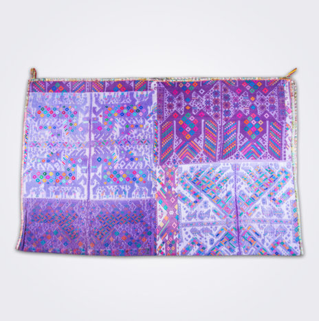 Purple Guatemalan Coverlet