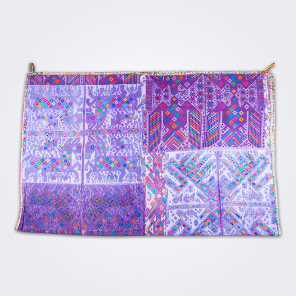 Purple guatemalan coverlet product picture.