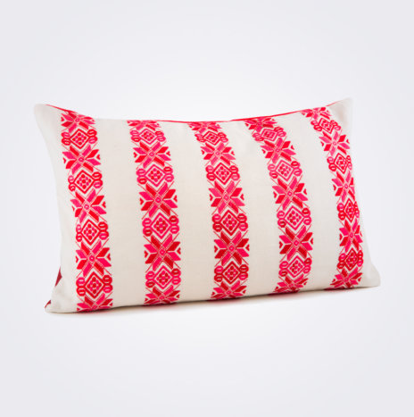 Red Stars Lumbar Pillow Cover