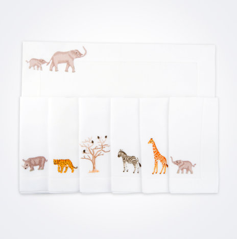 Safari Linen Napkin & Placemat Set