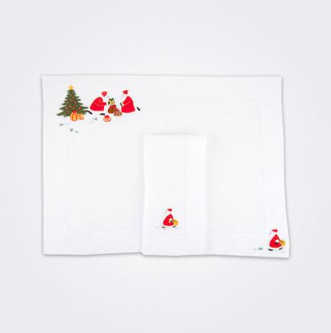 Santa Claus Napkin & Placemat Set