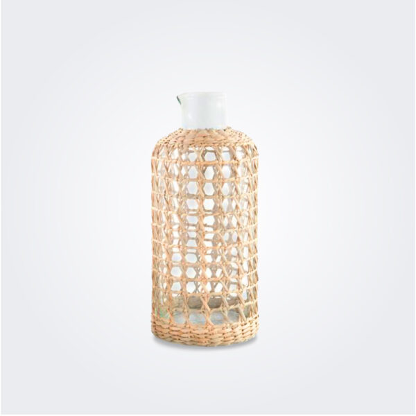 Seagrass cage carafe product picture.