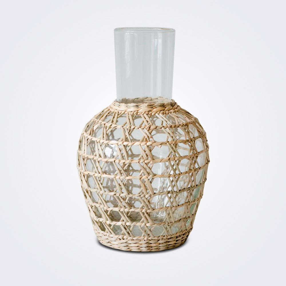 Seagrass cage pitcher product picture.