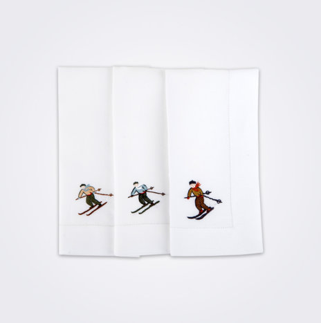 Skier Napkin Set