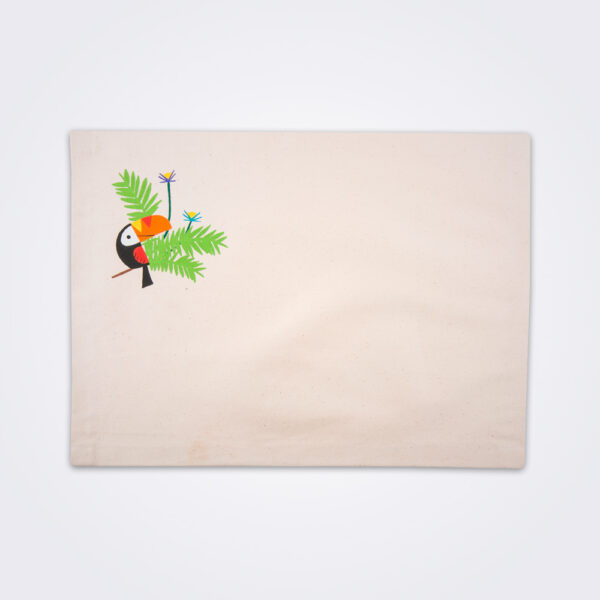 Toucan placemat set product photo.