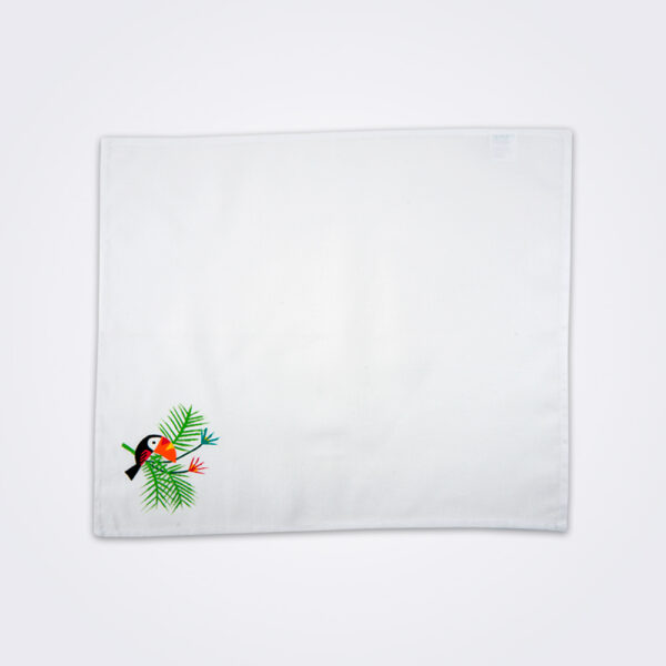 Toucan tea towel product photo.