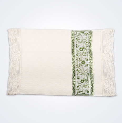 White & Green Flower Hand Towel