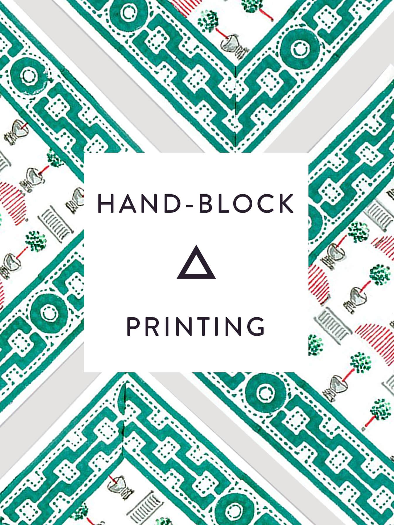Hand Block Printing.