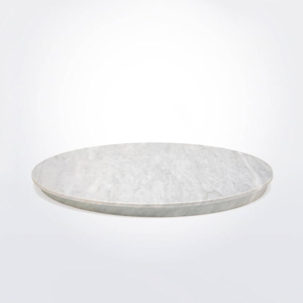 Round marble board product picture.