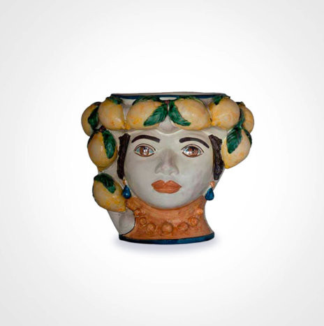 Lemon Woman Head Vase