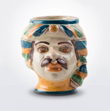 Ceramic Man Head Pencil Holder